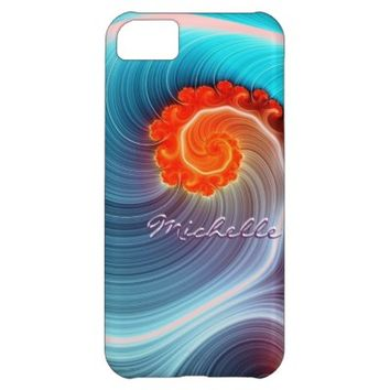 Fractal Ocean Wave iPhone 5 Barely There Case