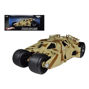 "\The Dark Knight Rises"" Batmobile Tumbler Camouflage 1/18 Diecast Car Model by Hotwheels"""