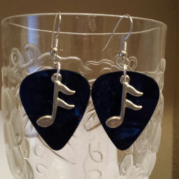 Guitar Pick Jewerly by Betsy's Jewelry - Guitar Pick Earrings - Musical Notes - Music Lover - Rocker Style