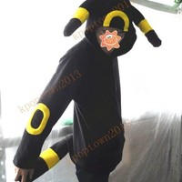 Pokemon umbreon hoodie coat costume cosplay fan made kigurumi sweater all size