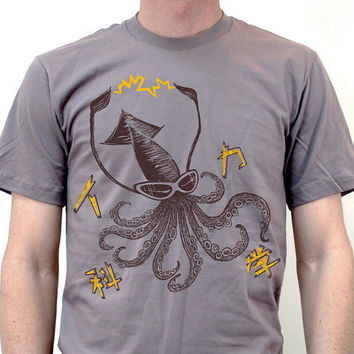 Mad Science Squid T shirts by namu on Etsy