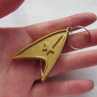 Star Trek TOS Emblem Keychain, Backpack Charm, Luggage Tag