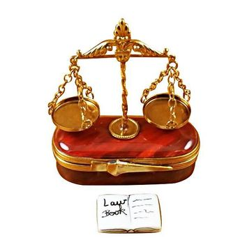 Scales of Justice Lawyer  Limoges Boxes