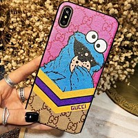 GUCCI Cute Cartoon Pattern Mobile Phone Cover Case For iphone 6 6s 6plus 6s-plus 7 7plus 8 8plus X XsMax XR