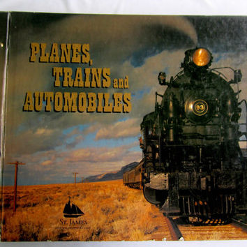 WallPaper Sample Book Arts and Crafts Supplies Decoupage Wall Art Scrapbook Planes Trains Automobiles