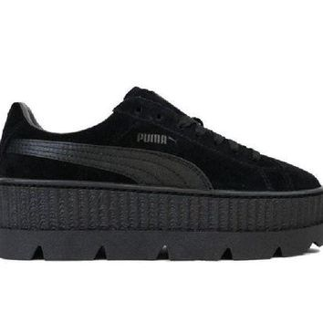 DCK7YE Puma Fenty Cleated Suede Creeper (BLACK) 366268-04