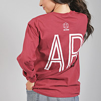 charlie southern: retro state long sleeve [arkansas] - red
