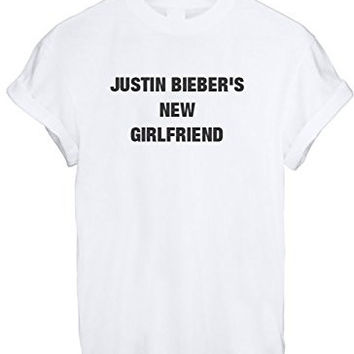 MRS JUSTIN BIEBER NEW GIRLFRIEND BELIEBER WOMEN UNISEX T SHIRT TOP TEE NEW - White