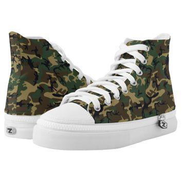 Trendy and Cool Woodland Camo Pattern Printed Shoes