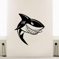 Wall Decal Vinyl Sticker Animal Predator Shark Sea Ocean Decor Sb474