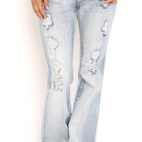 Series 31 Light Wash Slim Bootcut Jean with Pieced Back Pockets