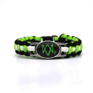 New Watch Dogs 2 Paracord Bracelets Hot Game Rope Chain Fashion Handmade Jewelry for Women Men fans High Quality Drop Shipping