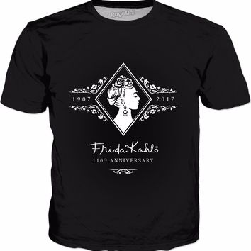 Frida Kahlo 110th Anniversary White & Classic Black T-Shirt