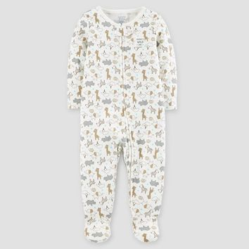 Baby Cotton Safari Mommy's Wild One Sleep N' Play - Just One You™ Made by Carter's® Cream
