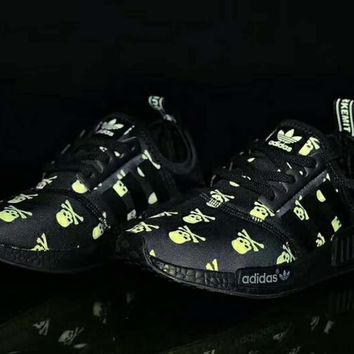One-nice™ ADIDAS NMD SKULL MORE RUNNING Women/Men Sports shoes yellow I-CSXY