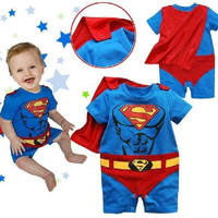 superman baby boys rompers for girls one-piece rompers = 1946219012