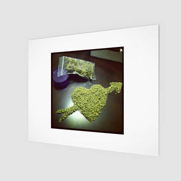For The Love of Herb - Frameable - Beautiful Art Print - Home Decor - Desk Decor - Wall Decor - Cool Art - Amazing - Green -