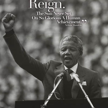 Nelson Mandela Freedom Quote Poster 24x36
