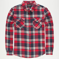 Retrofit Philly Mens Flannel Shirt Red  In Sizes