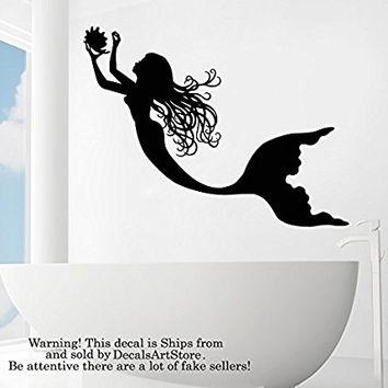 Mermaid Wall Decals Vinyl Wall Art Bedroom Bathroom Home Decor Art Mural Nursery Kids Dorm Interior SM206