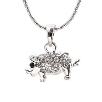 Crystal Big Belly Pig Necklace