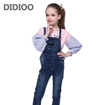 Girls Denim Overalls for Kids Jeans Pants for Girls Jumpsuit Autumn Child Trousers Overalls Infant Suspenders Pants