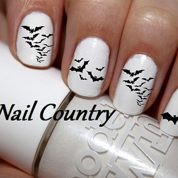 50pc Halloween Bats Nail Decals Nail Art Nail Stickers Best Price On Etsy NC190