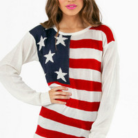 America For Me Knit Sweater $35