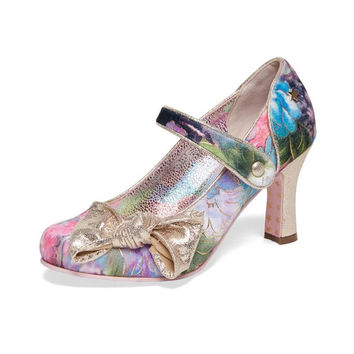 Joe Browns Couture 'Delilah' Floral Velvet Court Shoes | 1950's Inspired Fashion | Lindy Bop