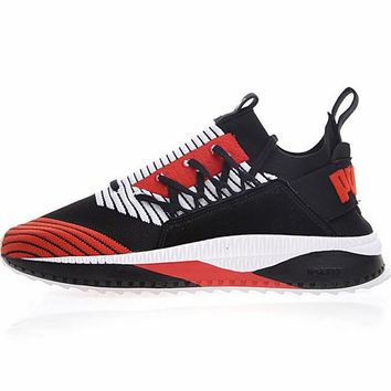"PUMA TSUGI JUN Cubism Running Shoes ""Black&Red&White""365490-01"