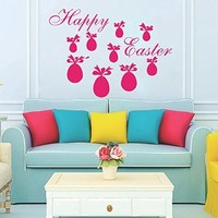 Easter Wall Art Sunday Decal Vinyl Egg Sticker Twig Kitchen Home Decals Interior Design Cafe Restaurant Decor Murals Ah141