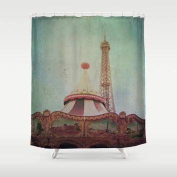 Bohemia of Paris Shower Curtain by Victoria Herrera