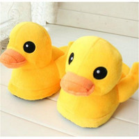 Cute Yellow Duck Slip On Indoor Home Shoes