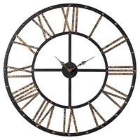 Lazy Susan 28 in. Mombaca Black , Gold Wall Clock