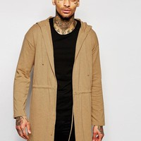 ASOS | ASOS Longline Knitted Parka in Camel at ASOS