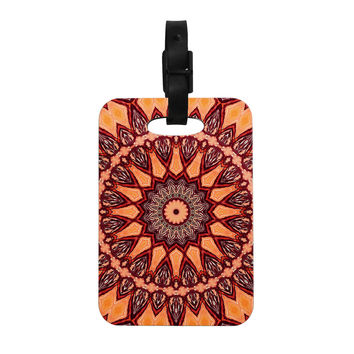 "Iris Lehnhardt ""Colors of Africa"" Brown Orange Decorative Luggage Tag"
