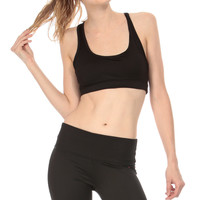 Black Workout Racer Back Crop Top