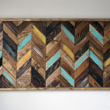 Marvelous Chevron Wood Wall Art