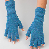 Unisex Acrylic Mohair Blend Fingerless Glove | American Apparel
