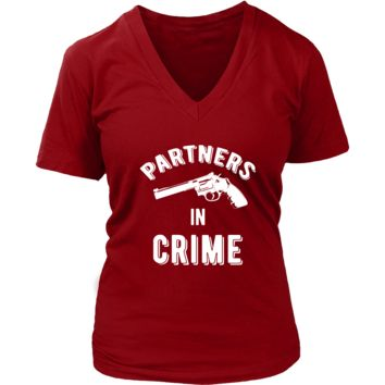 Valentine's Day T Shirt - Partners in Crime