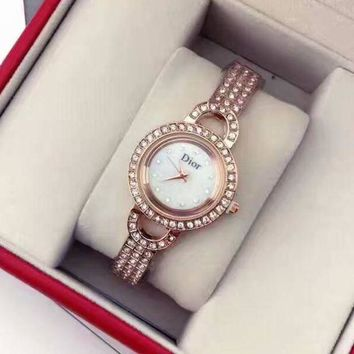 DIOR Women Fashion Quartz Movement Watch WristWatch