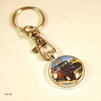 1956 Ford Truck Hot Rod Vintage Car Key Chain Ring