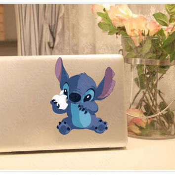 Stitch - Macbook Decal Pro/Air Sticker Handmade Skin Partial Protector MacBook decal MacBook pro sticker