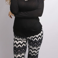 Shake it Chevron Palazzo Pants