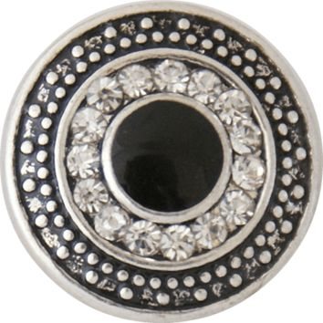 Black Center Rhinestones 20 mm 3/4""