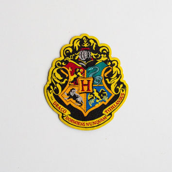 Harry Potter Patch Hogwarts....Iron On about 3 x 2.5 inches