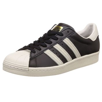 Adidas Superstar 80s Core Black Footwear White Men Leather Sneakers Trainers