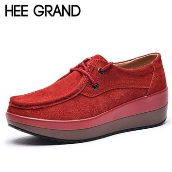 HEE GRAND Women's Thick Soled Platform Oxford Shoes