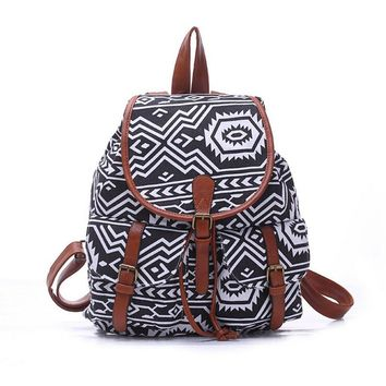 women s large canvas chevron aztec daypack backpack travel bag 2