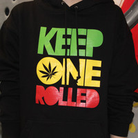 Keep One Rolled Hoodies